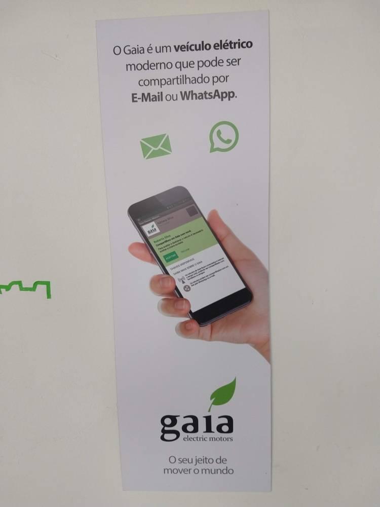 Gaia Electric Motors é um startup 100% brasileira que quer acelerar o desenvolvimento do transporte sustentável no Brasil. O Gaia é um veículo elétrico com três rodas, inovador e moderno. Ele te permite pegar estrada e acelerar até 130km/h com segurança. Sua autonomia de 200Km é ideal para quem reside em cidades periféricas a grandes centros urbanos.   [157264006215726400628981878742.jpg]
