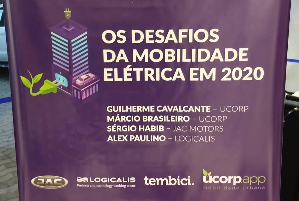 Os desafios da mobilidade elétrica em 2020, evento organizado pelo UCORP Mobilidade realizado na concessionária JAC Motors da Avenida Europa, São Paulo. Palestrantes: Sérgio Habib, Alex Paulino, Guilherme Cavalcante.  [15809587761580958776298210264.jpg]