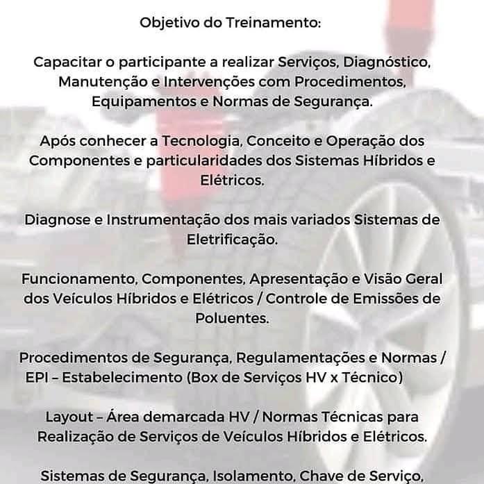 Curso híbridos e elétricos em São Paulo - diagnóstico e manutenção. Capacitar o participante a realizar Serviços, Diagnóstico, Manutenção e Intervenções com Procedimentos, Equipamentos e Normas de Segurança. Preparando para a Diagnose e Instrumentação dos mais variados Sistemas de Eletrificação. [159543776115954377616265681652.jpg]