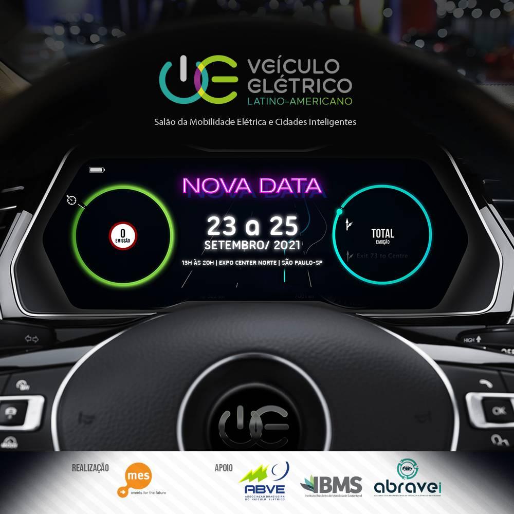 VE Latino Americano - Salão da Mobilidade Elétrica e Cidades Inteligentes acontecerá em setembro 2021 (São Paulo). O evento será realizado novamente em São Paulo no Expo Center Norte, com o propósito de servir como ponto de encontro da indústria da mobilidade elétrica e soluções para cidades inteligentes de todo o Brasil. [16105489161610548916778369488.png]