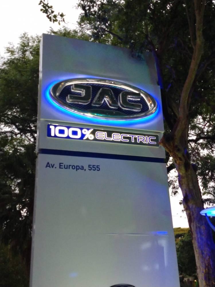 Inauguração da 1a loja de carros elétricos no Brasil da JAC Motors
