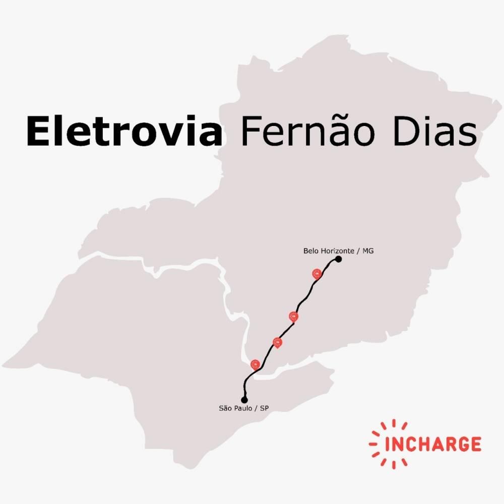 Iniciativa sensacional: Eletrovia Fernão Dias - Incharge - ligando São Paulo a Belo Horizonte